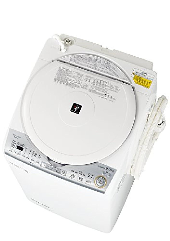 シャープ SHARP タテ型洗濯乾燥機 ダイヤカット穴なし槽 ホワイト系 ES-TX8C-W