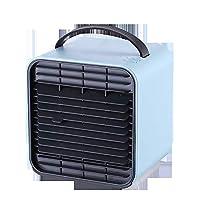 Tinypony ミニエアクーラー 冷風扇 卓上エアコン ミニ空調 卓上扇風機 USB 4 in 1 扇風機 加湿器 ベッドライト 空気浄化器 風量3段階調整 風向上下調節 熱中症対策 オフィス キャンプ 家庭用