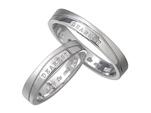 close to me クロストゥーミー ブルーダイヤモンド メッセージ シルバー ペアー リング 7号~21号 指輪 SV
