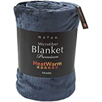 mofua(モフア)毛布 プレミアムマイクロファイバー Heatwarm発熱 +2℃ タイプ 1年間品質保証 シングル ネイビー 60100107