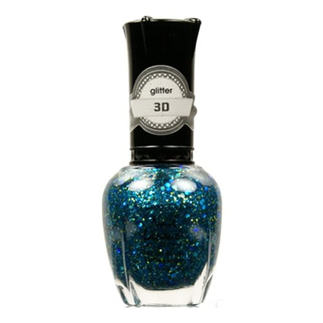 浸漬文化塩辛い(6 Pack) KLEANCOLOR 3D Nail Lacquer - Luv U TEAL I Find Someone Better (並行輸入品)