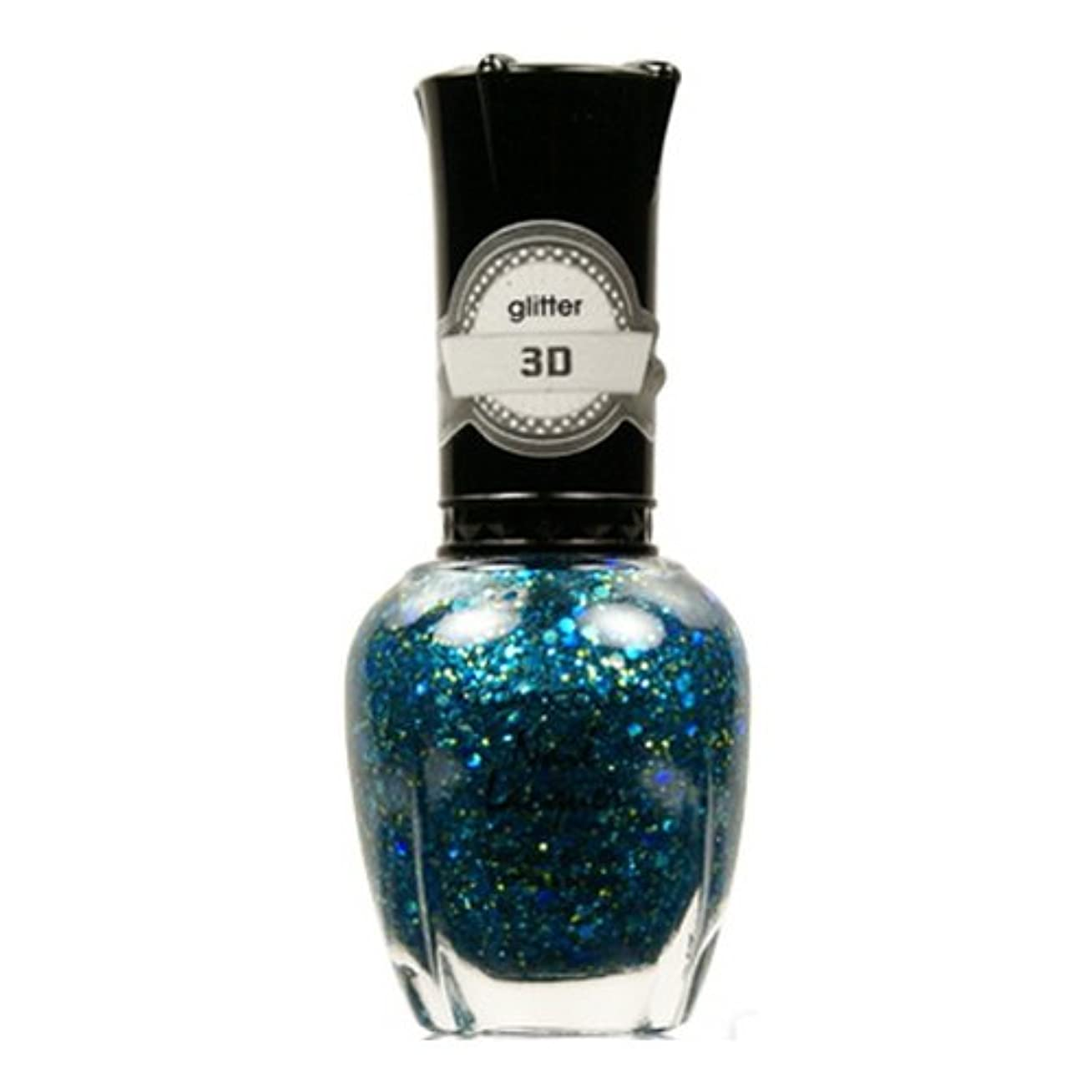 のど人形ナット(6 Pack) KLEANCOLOR 3D Nail Lacquer - Luv U TEAL I Find Someone Better (並行輸入品)