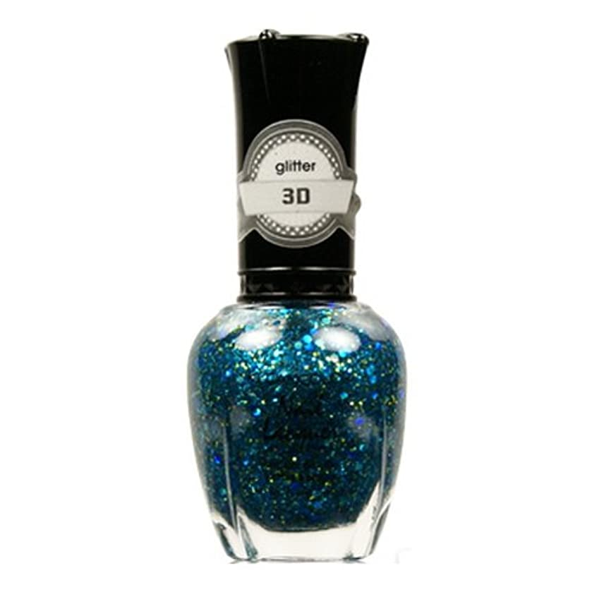 普及膿瘍口頭(3 Pack) KLEANCOLOR 3D Nail Lacquer - Luv U TEAL I Find Someone Better (並行輸入品)