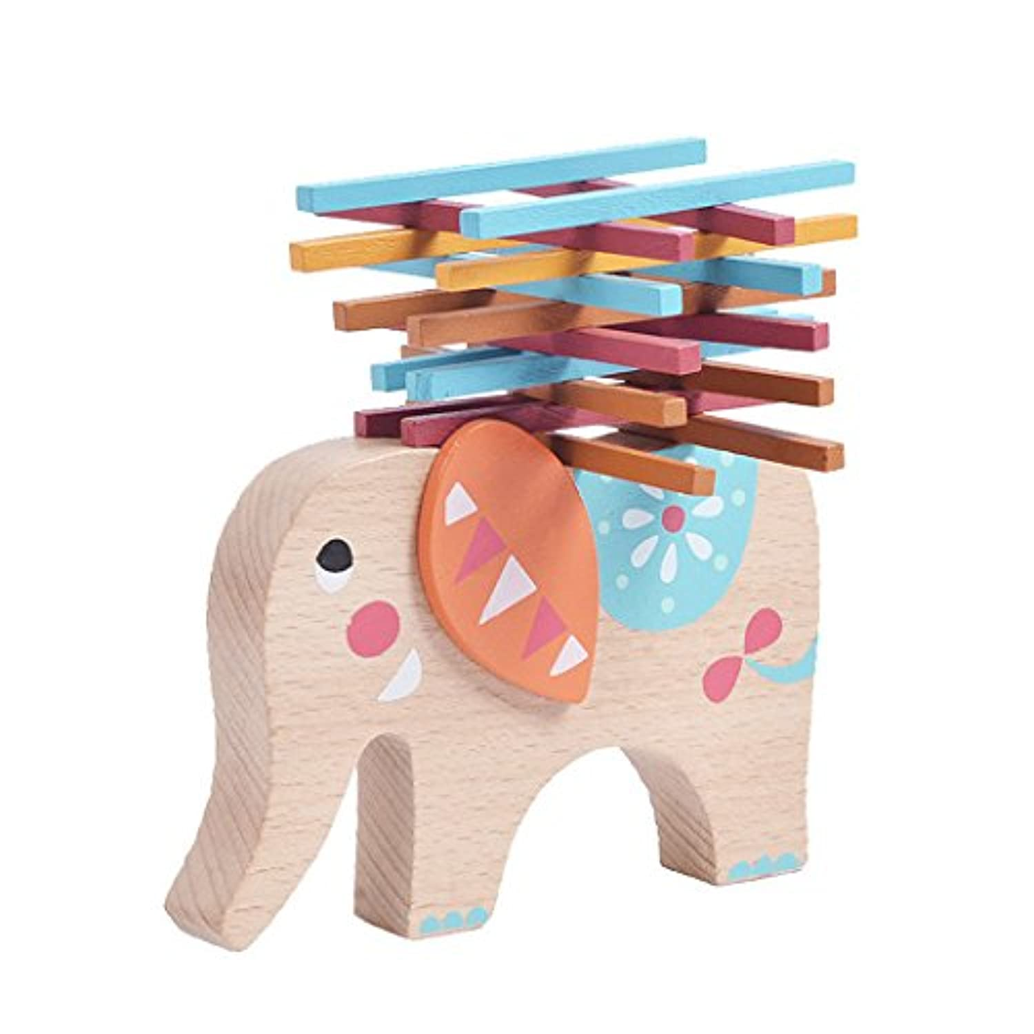 Wooden Toy Elephant Balancing Game Blocks Wooden Toys Stacking Blocks Kids Educational Toys