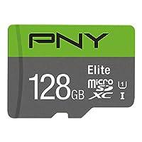 PNY Elite microSDXCカード128GBクラス10 UHS-I U1 100MB / s A1 V10