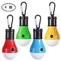 LEDキャンプライト、[4パック]ポータブルLEDテントのランタンバックキャンプキャンプハイキング釣りのための4つのモード救急灯屋外と屋内用のバッテリー駆動ランプ