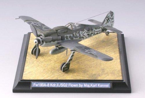 技MIX WW05 1/144 フォッケーウルフFw190A-8 第2地上襲撃航空団第II飛行隊  カール ケンネル少佐乗機   彩色済み