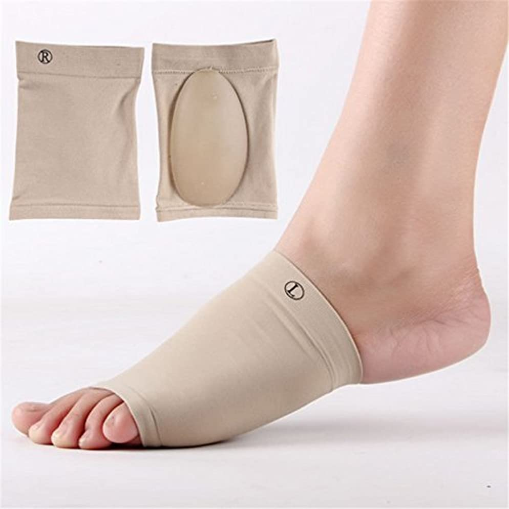アコー黙認するヶ月目Lorny(TM)1Pairジェル足底筋膜炎アーチサポートスリーブアーチソックスかかとクッションフラット足の整形外科靴パッドフットケア [並行輸入品]