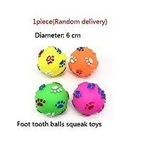ゴム製ペットきしむおもちゃスクリーミングチキンボーンスリッパ鶏足ボール犬猫おもちゃ歯磨き&トレーニングペット玩具用品-A-05-写真ショー