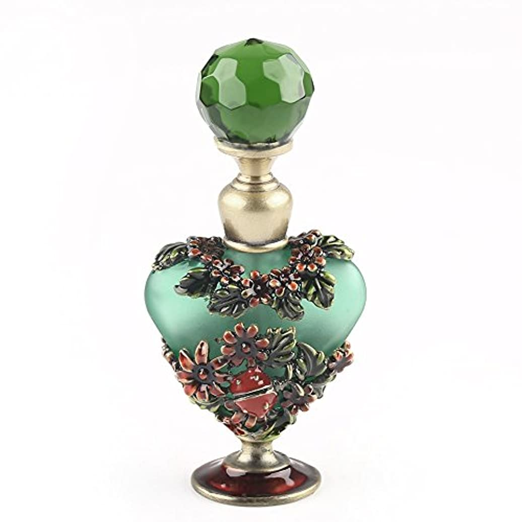 VERY100 高品質 美しい香水瓶/アロマボトル 5ML アロマオイル用瓶 綺麗アンティーク調 フラワーデザイン プレゼント 結婚式 飾り 70292