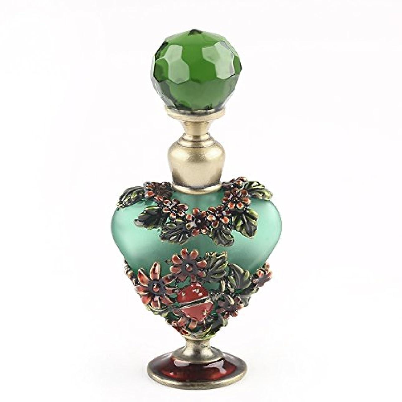 平らにする命令的呼ぶVERY100 高品質 美しい香水瓶/アロマボトル 5ML アロマオイル用瓶 綺麗アンティーク調 フラワーデザイン プレゼント 結婚式 飾り 70292