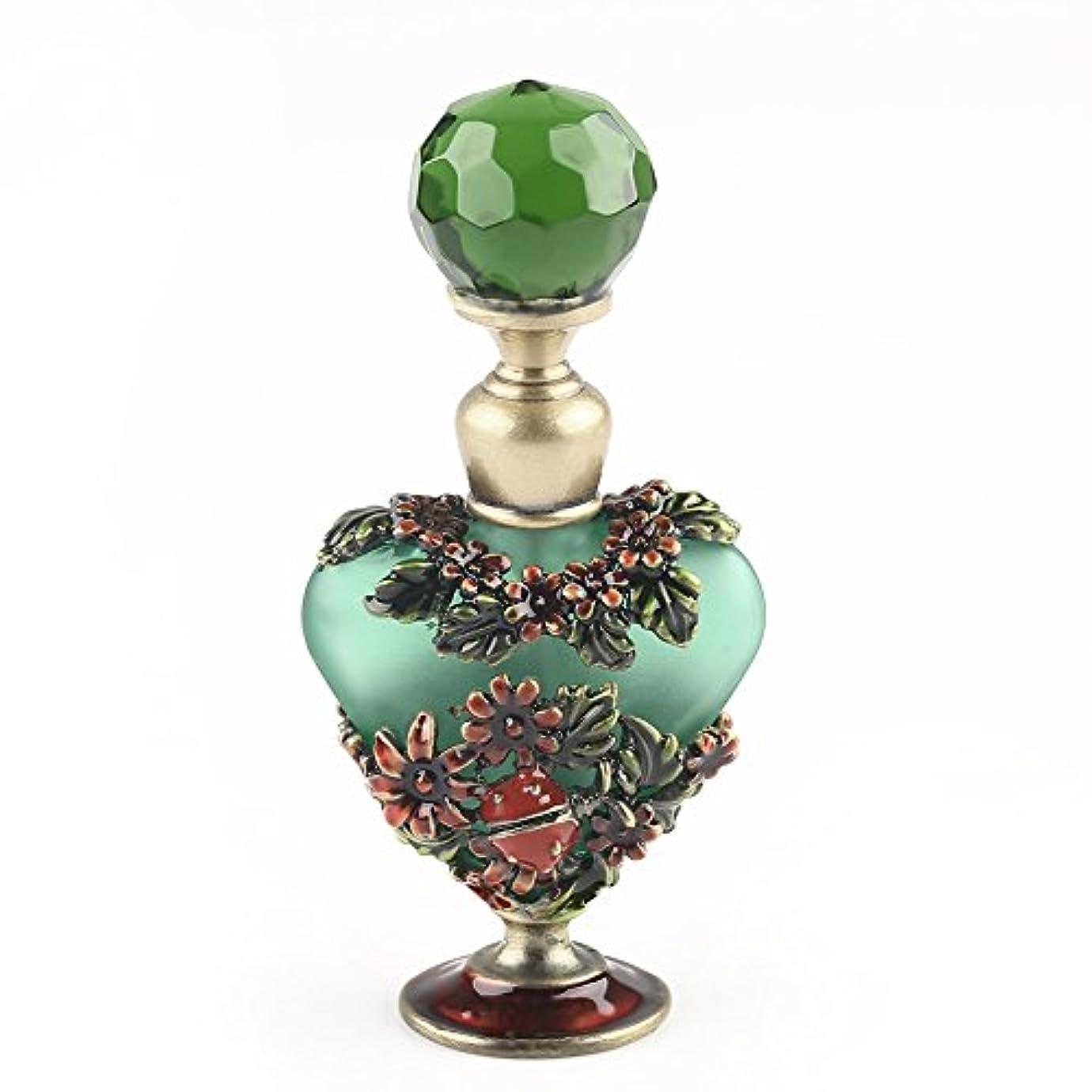 束金銭的なかるVERY100 高品質 美しい香水瓶/アロマボトル 5ML アロマオイル用瓶 綺麗アンティーク調 フラワーデザイン プレゼント 結婚式 飾り 70292