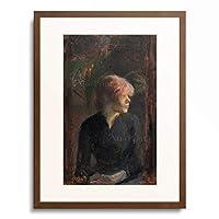 アンリ・ド・トゥールーズ=ロートレック Henri Marie Raymond de Toulouse-Lautrec-Monfa 「Carmen Gaudin, 1885.」 額装アート作品