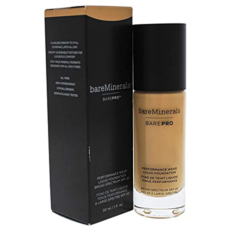 全部私ビールベアミネラル BarePro Performance Wear Liquid Foundation SPF20 - # 18 Pecan 30ml/1oz並行輸入品