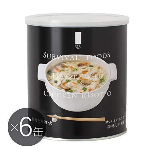 【25年保存/美味しい非常食】サバイバルフーズ[大缶]洋風とり雑炊(6缶入)