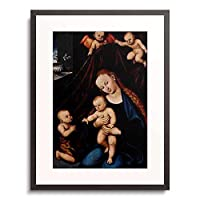 ルーカス・クラナハ(父) 「Mary with the infant Christ and St. John.」 額装アート作品