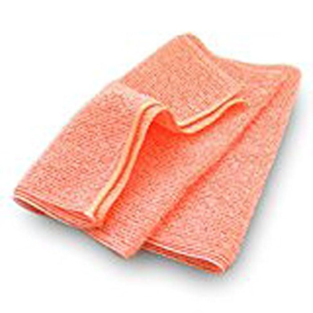 寄託誤解を招く大腿ブルーム なめらかホイップ ボディタオル (サーモンピンク) [M] とうもろこし繊維 弱酸性 泡立ちなめらか やわらかめ 日本製
