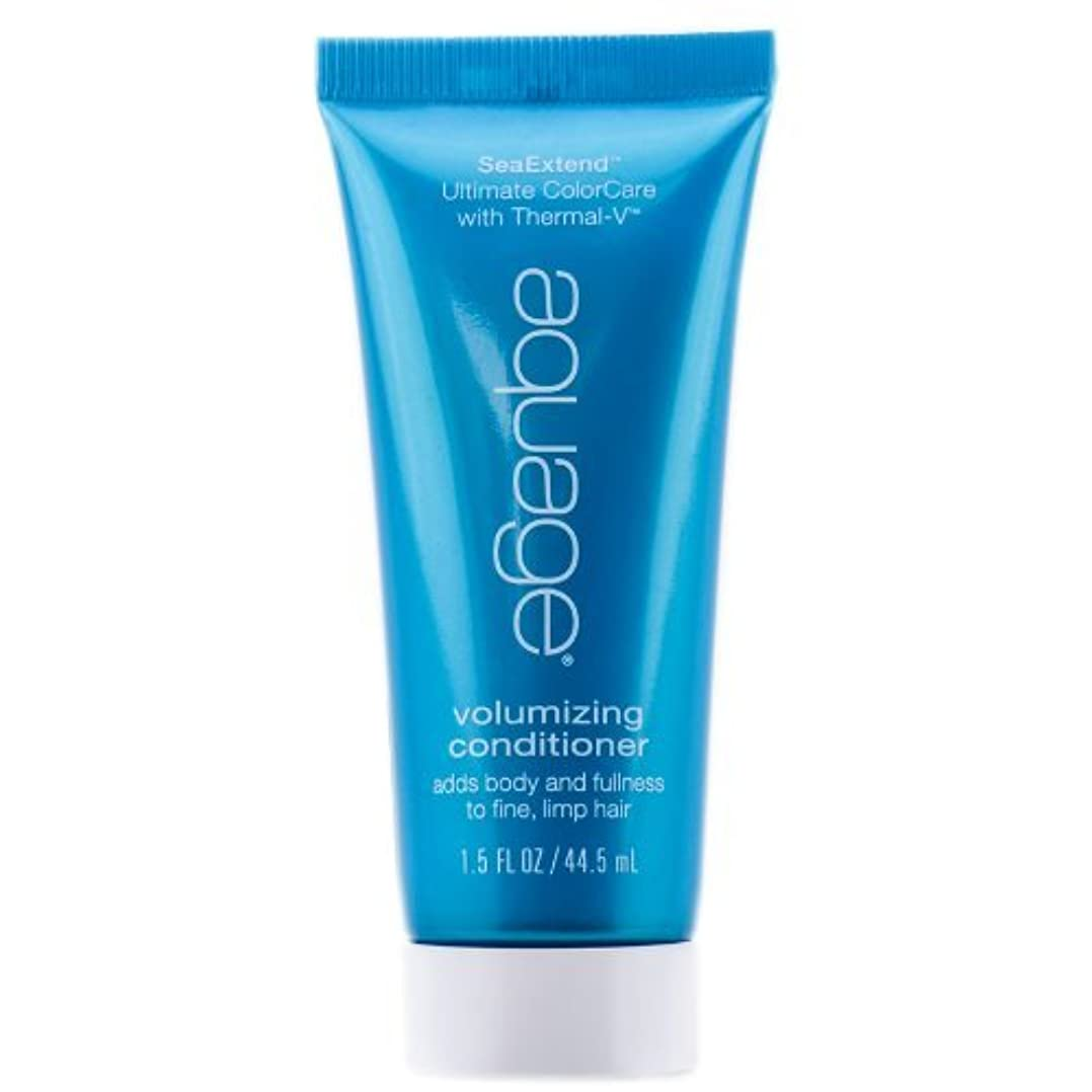 表示豊かな果てしないAquage Sea Extend Volumizing Conditioner 1.5 oz by Aquage