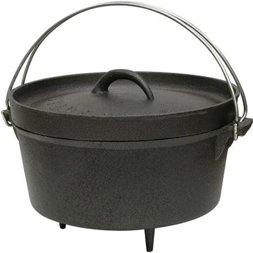 限られた魅力的自分のために4qt Cast Iron Stansport Dutch Oven with脚、ブラック