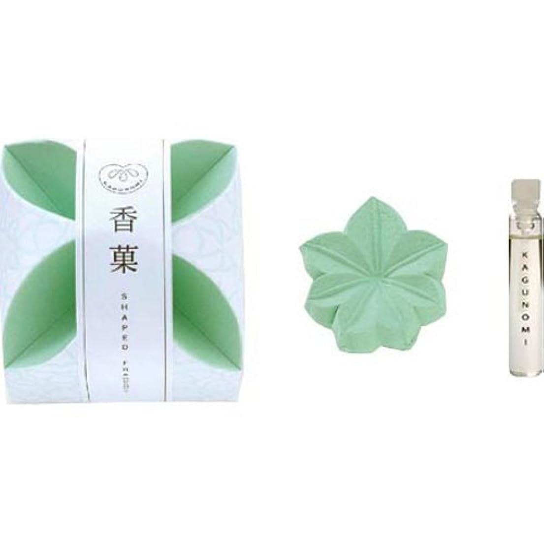 加害者エンドテーブルコンパス香菓 もみじ形(緑色)1入 オイル付