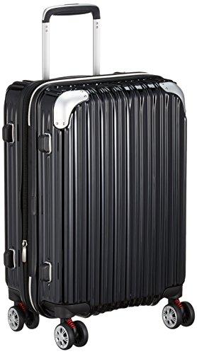 [トライデント] ハードジッパースーツケース キャリーケース 機内持込 容量アップ拡張機能付 Sサイズ 小型 1年保証付 35-40L 機内持込可 保証付 40.0L 49cm 3.3kg TRI2035-49 ブラック ブラック