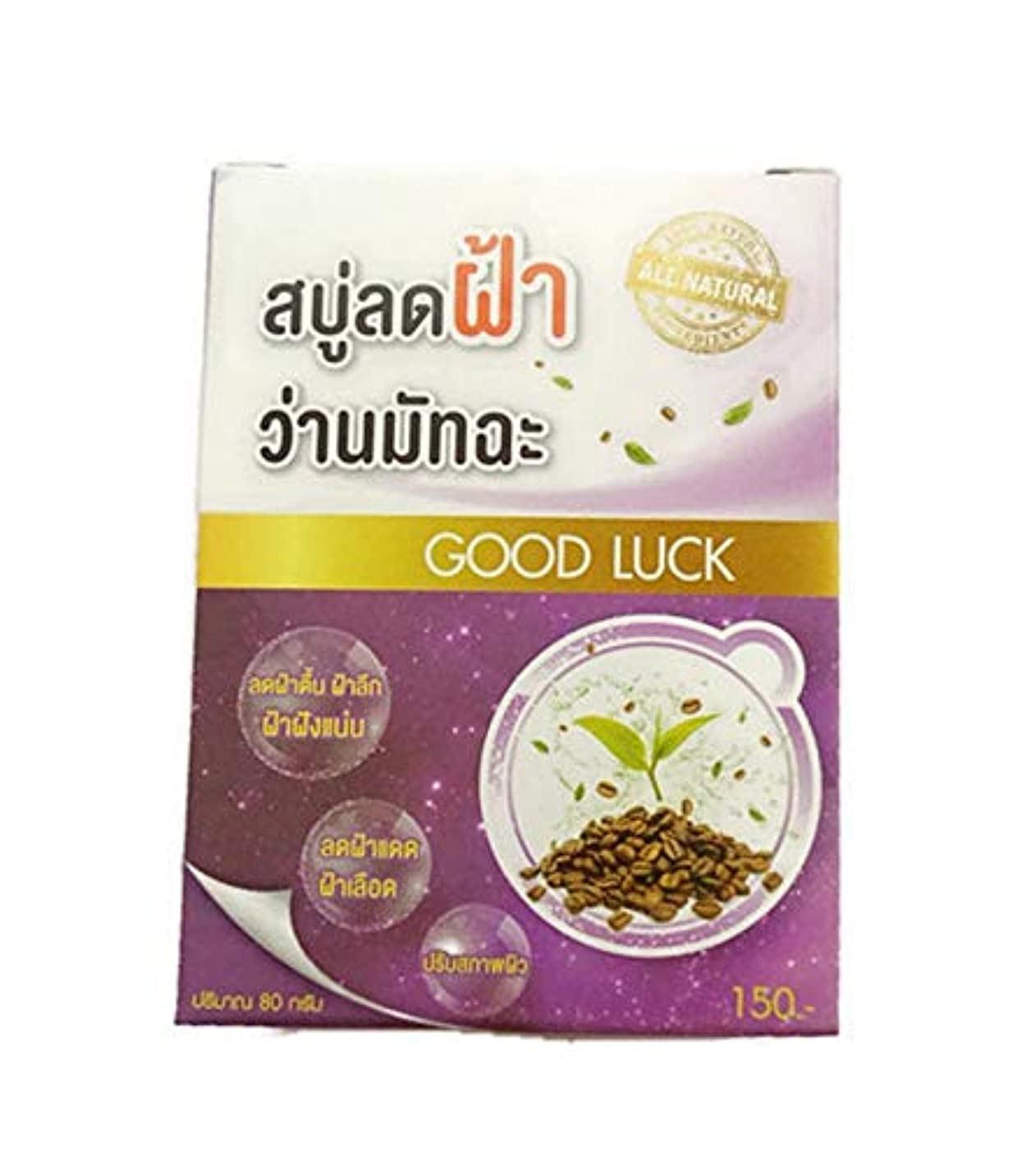 肺炎シビック登録AHA Coffee Aloe Green Tea Melasma Soap 80 grams.
