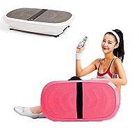 振動マシン ダイエット器具低脂肪家族体操用フィットネス振動プラットフォーム150(Kg)ラバーフットパッドロードベアリング,Brown
