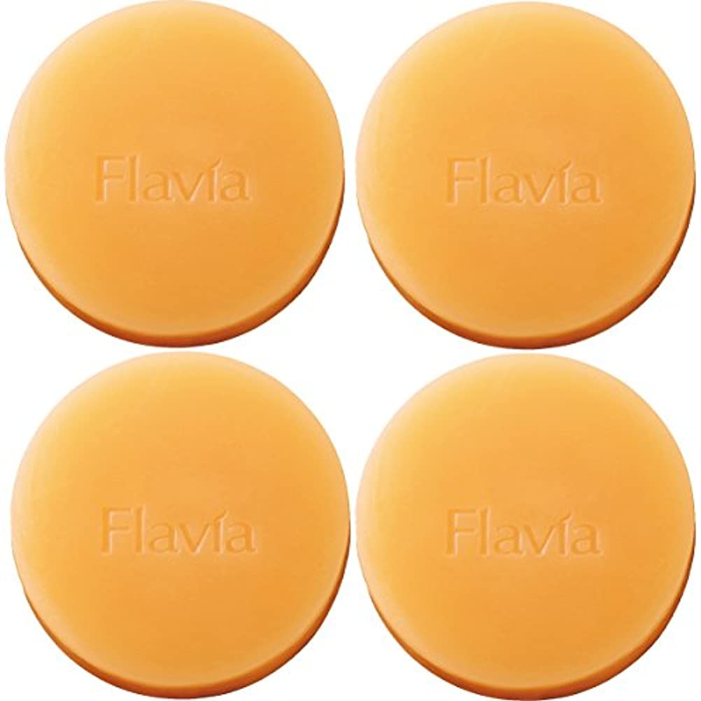 乱れパターン繊維フォーマルクライン 薬用 フラビア ソープ 4個セット(夜用2個×2セット) 洗顔 石けん