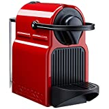 Nespresso Inissia Coffee Maker with Aeroccino Bundle, Ruby Red