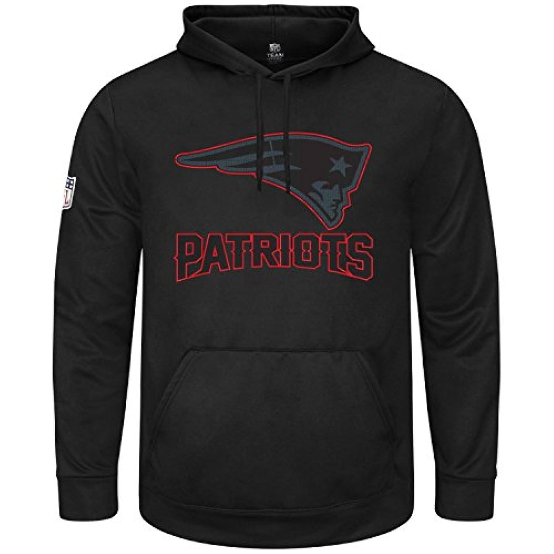 マジェスティック (Majestic) HEATHLY パーカー - NFL ニューイングランド?ペイトリオッツ (New England Patriots) ブラック