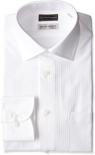 (ピーエスエフエー)P.S.FA i-shirt 完全ノーアイロン 長袖 セミワイドカラーアイシャツ M151180065 01 ホワイト M(首回り39cm×裄丈82cm)