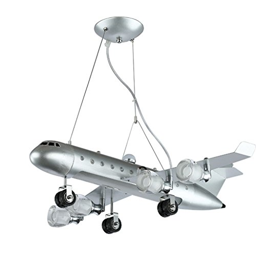 ASL 子供の部屋航空機シャンデリア、LEDクリエイティブな男の子のベッドルームシャンデリアの目の保護ランプと灯篭幼稚園の教室の照明航空機の照明40W白い光68 * 80cm HAPPY ( サイズ さいず : 68*80CM )