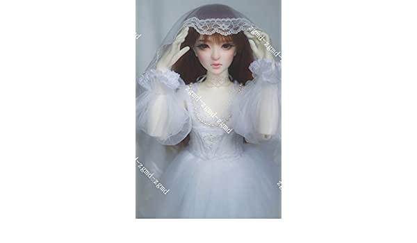 5aa1e942f02e7 Sharplace 1:6 Scale Bridal Wedding Gown and Veil for 12inch Action ...