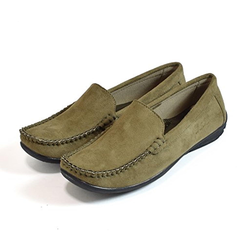 Shoes-hall 【9-3164】やわらかアーチクッション シンプル スウェード フラット ドライビングシューズ モカシン