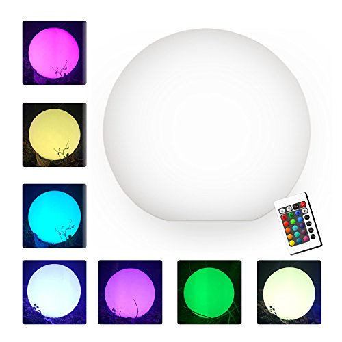 屋外 RGB 調光機能付き 8'' LED 電球 リモコン付き、充電式、ムードランプ、防水,ランプ、フローティング LE...