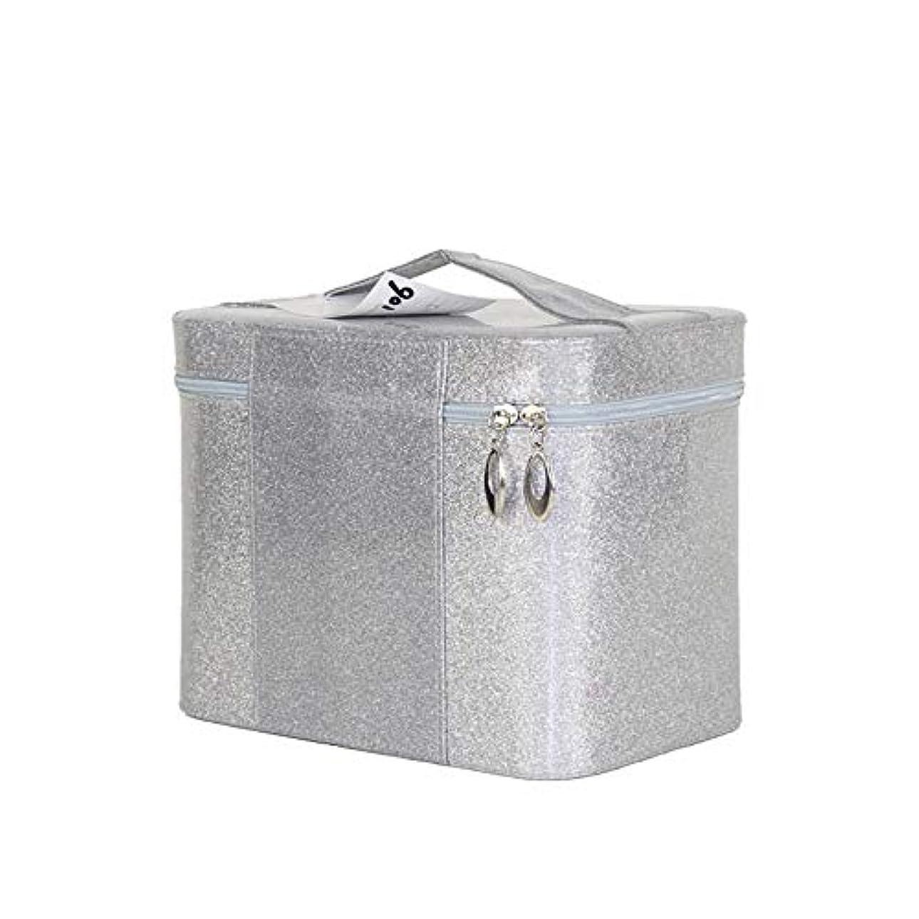 ロバ破壊的魔法化粧オーガナイザーバッグ ジッパーで小さなものの種類のための旅行のための美容メイクアップのための純粋な色のポータブル化粧品バッグ 化粧品ケース