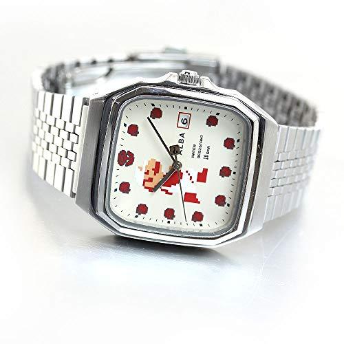 [セイコーウォッチ] 腕時計 アルバ スーパーマリオ コラボレーションモデル 角型 ファミコンデザイン 白文字盤 日常生活用強化防水(10気圧) ACCK421 シルバー