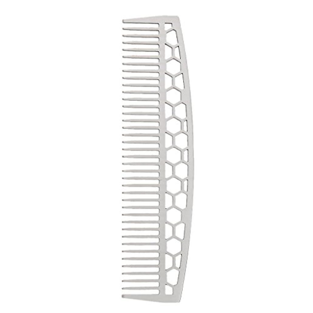 正確さ成熟バンカービアードコーム ひげブラシ ヘアコーム 家庭用櫛 ステンレス 2タイプ - #1