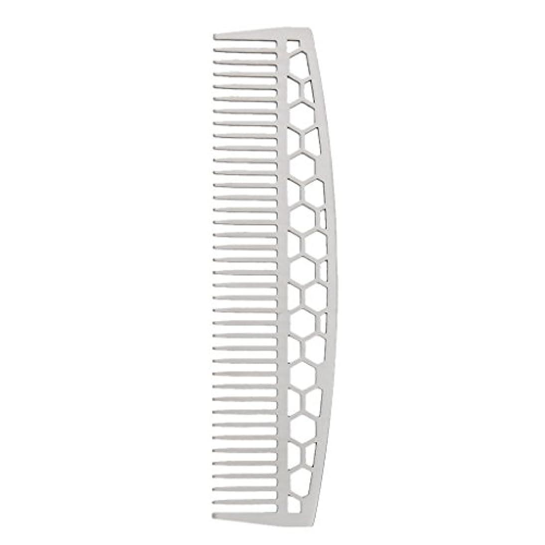 より同種の同化ビアードコーム ひげブラシ ヘアコーム 家庭用櫛 ステンレス 2タイプ - #1