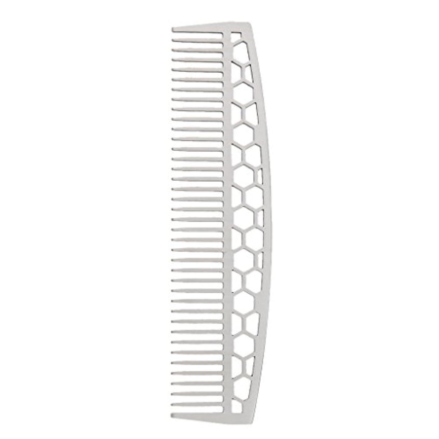虫を数える栄養抱擁DYNWAVE ビアードコーム ひげブラシ ヘアコーム 家庭用櫛 ステンレス 2タイプ - #1