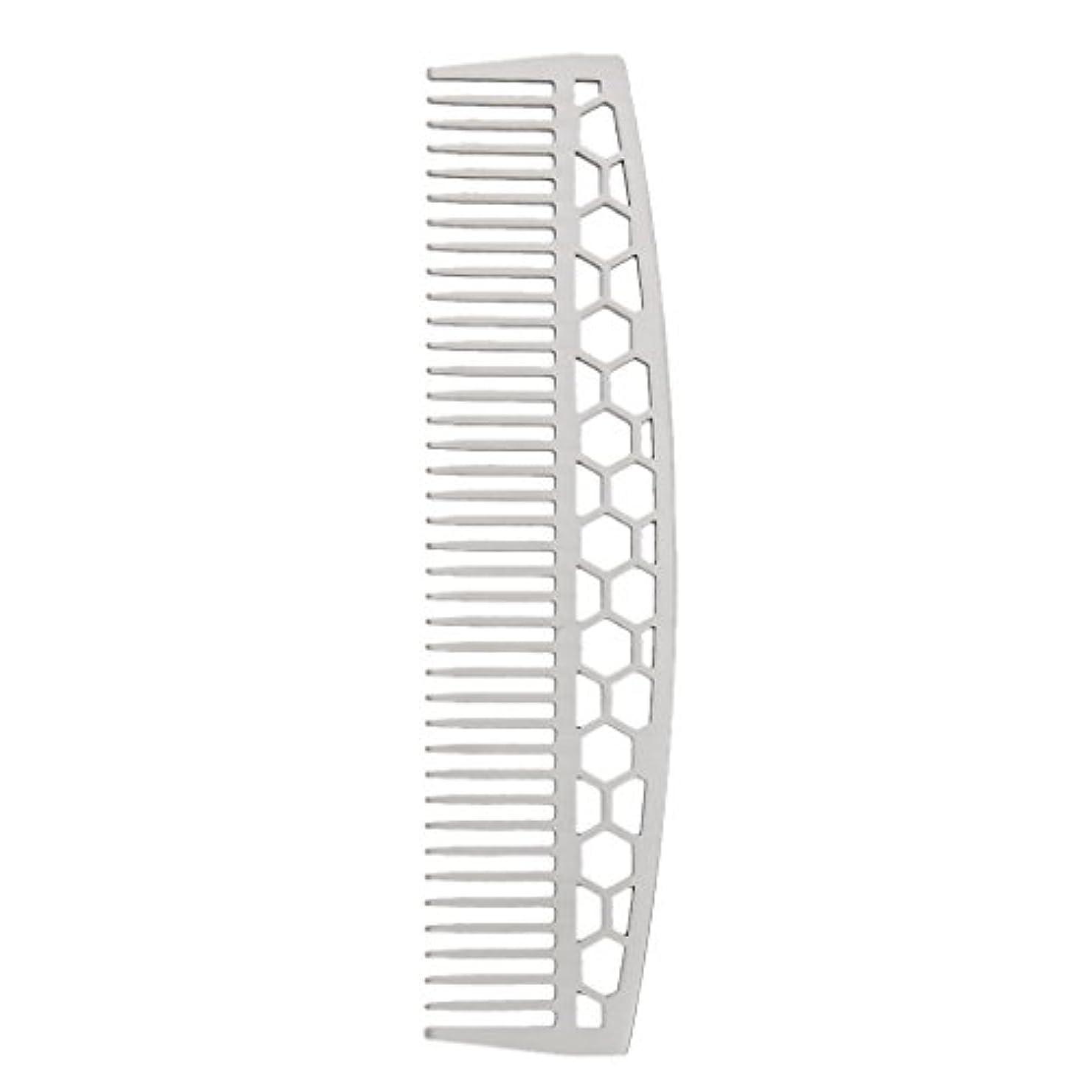 適応歯痛購入DYNWAVE ビアードコーム ひげブラシ ヘアコーム 家庭用櫛 ステンレス 2タイプ - #1