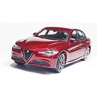 アルファロメオ ジュリア イタリア ブラーゴ 1/43 モデルカー ダイキャスト製 ミニカー Italia Burago 18-30329 Alfa Romeo Giulia 2016 ワインレッド [並行輸入品]