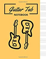 Guitar Tab Notebook: Chord Diagrams, Music Staff and Tablature, Blank Sheet Music Notebook, Music Manuscript Paper, Staff Paper, Musicians Notebook 8.5x11 Notes Theme