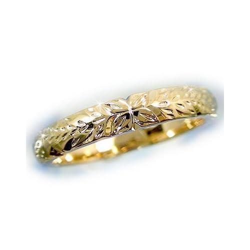 [アトラス] Atrus ハワイアンジュエリー ハワイアン リング リング 指輪 K18 小指に記念にお守りとして イエローゴールド ハワイ 1~18号