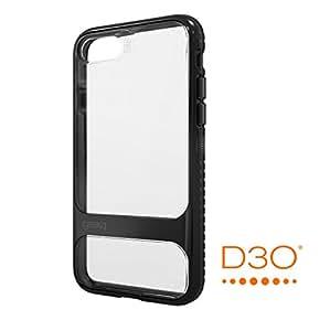 【Gear4】iPhone7ケース SOHO 英国発人気ブランド D3Oテクノロジー採用 衝撃吸収 落下 耐衝撃 アイフォン 7 用 バンパー カバー (iPhone7、ジェットブラック)