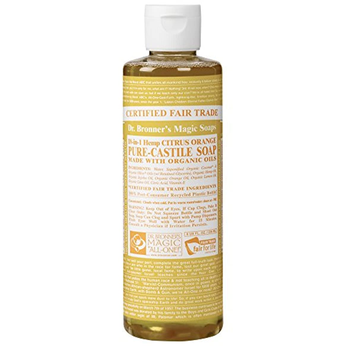 仲良しダイヤル報復するDrのブロナー有機シトラスカスティーリャ液体石鹸237ミリリットル (Dr Bronner) (x6) - Dr Bronner Organic Citrus Castile Liquid Soap 237ml (Pack...