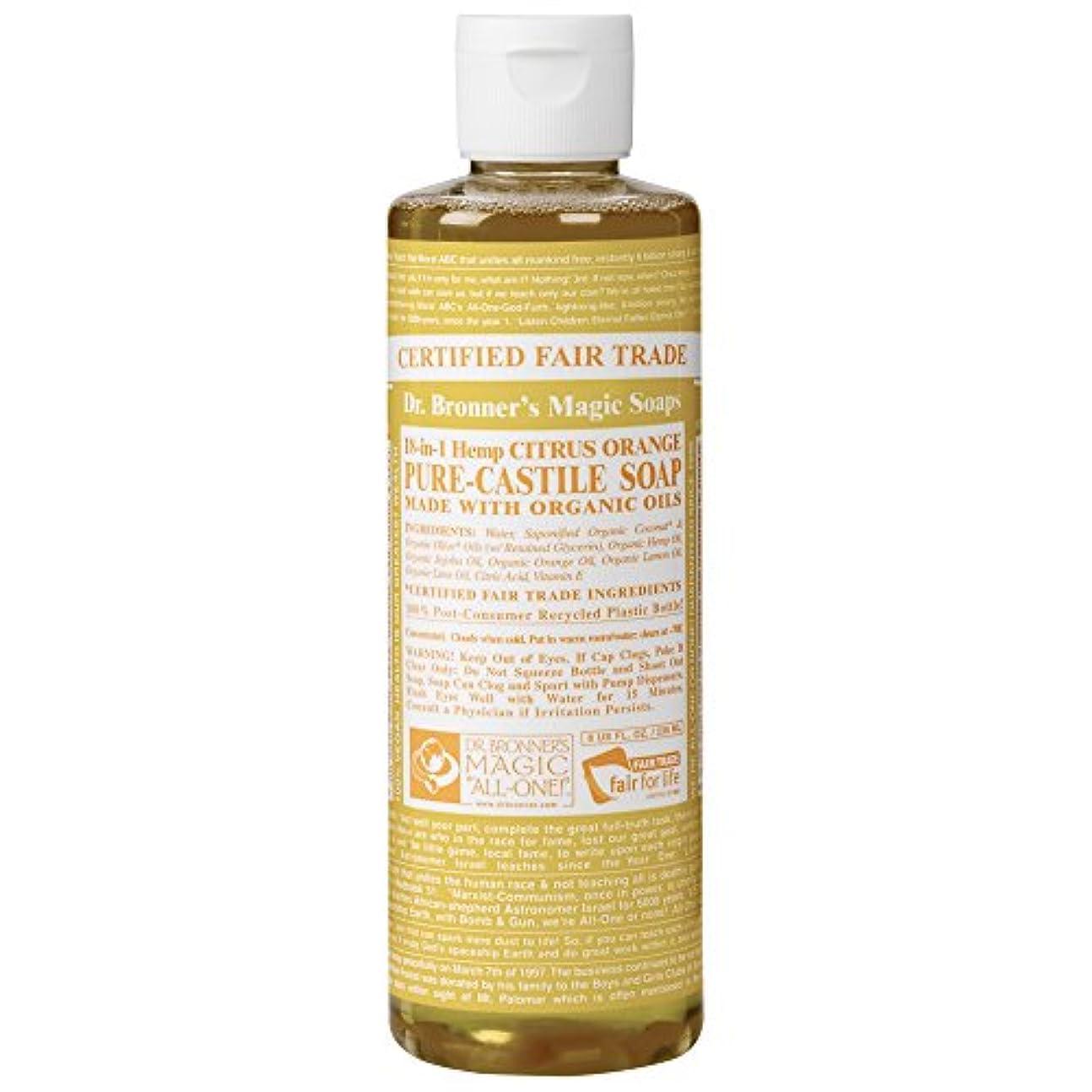 ありふれた仲間値下げDrのブロナー有機シトラスカスティーリャ液体石鹸237ミリリットル (Dr Bronner) (x2) - Dr Bronner Organic Citrus Castile Liquid Soap 237ml (Pack...