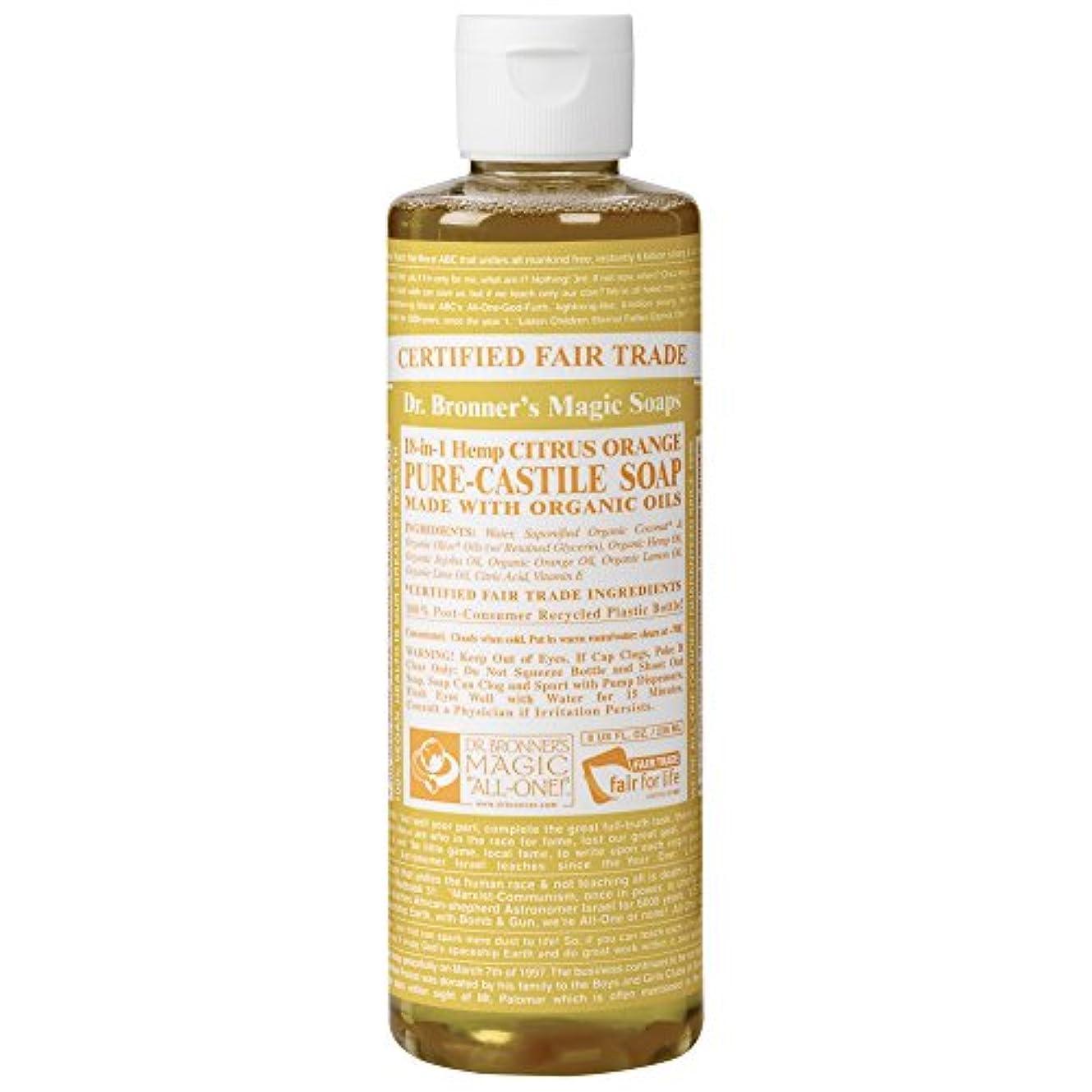 自我保守的複数Drのブロナー有機シトラスカスティーリャ液体石鹸237ミリリットル (Dr Bronner) (x6) - Dr Bronner Organic Citrus Castile Liquid Soap 237ml (Pack of 6) [並行輸入品]