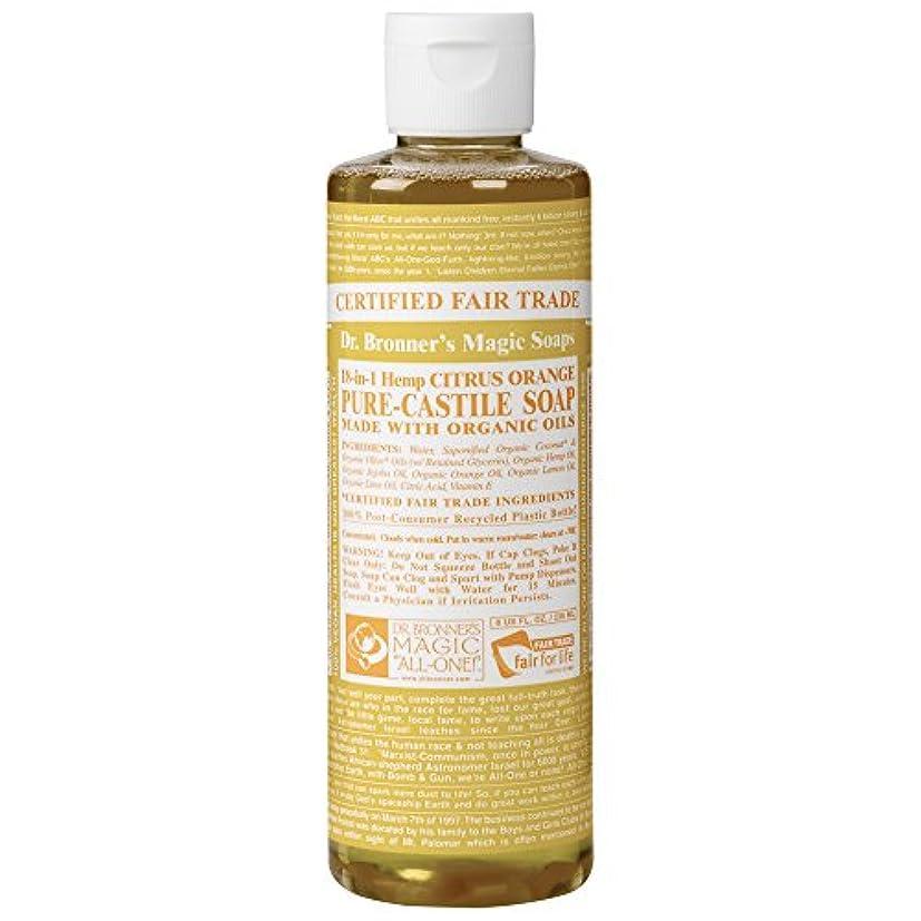 ベル立ち寄る自分を引き上げるDrのブロナー有機シトラスカスティーリャ液体石鹸237ミリリットル (Dr Bronner) (x6) - Dr Bronner Organic Citrus Castile Liquid Soap 237ml (Pack...
