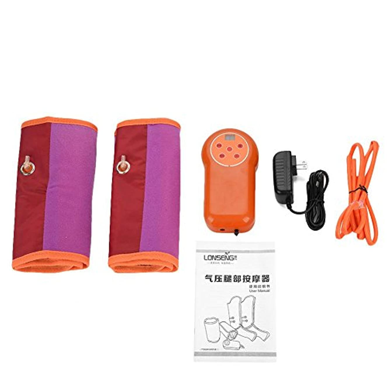 バーシンク包帯空気圧縮マッサージ、タイミング設定 9レベルモード 調節可能な腕マッサージャー 電気サイクル(1)